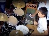 Соло на барабане . Узбекистан . г. Шахрихан